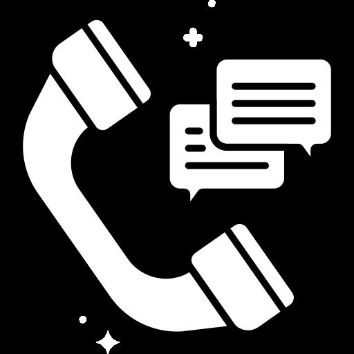 Icone support téléphonique