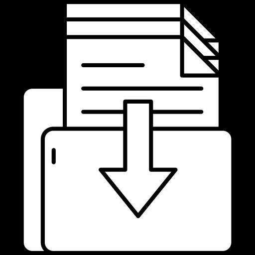Icone représentant un dossier contenant des documents