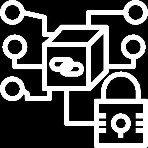 Icone représentant l'enregistrement d'un document dans un espace sécurisé