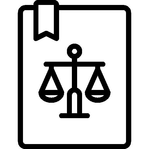Icône d'un registre juridique.