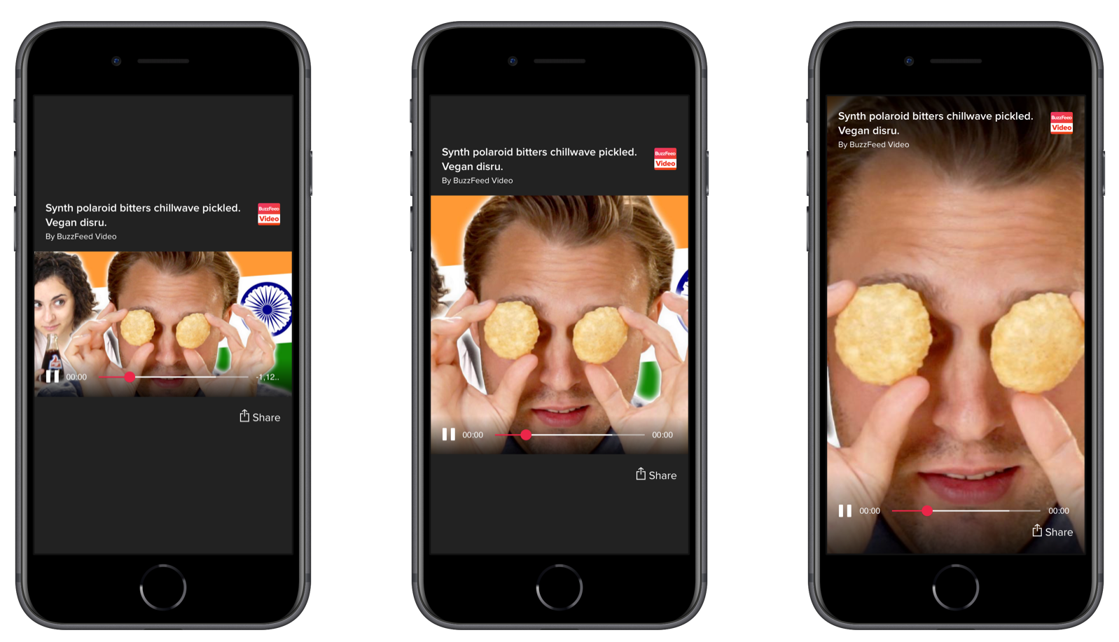 BuzzFeed native video player to support various aspect ratios and viewing mode