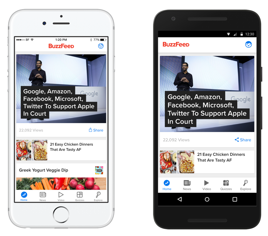 BuzzFeed Feed redesign to improve content discovery