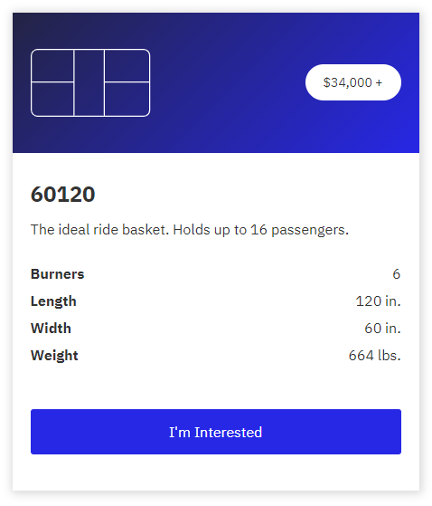 Basket purchase page example