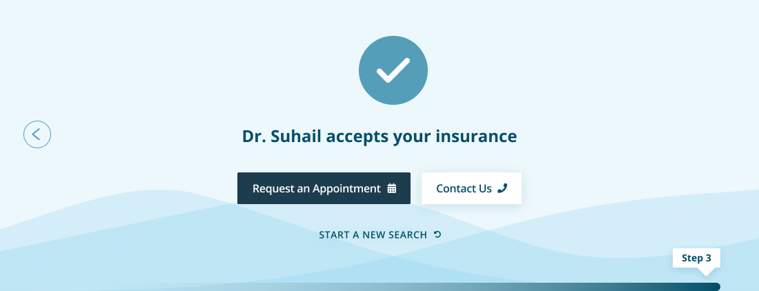 An image of step 3 in the insurance verification process for the Good Eyes website.