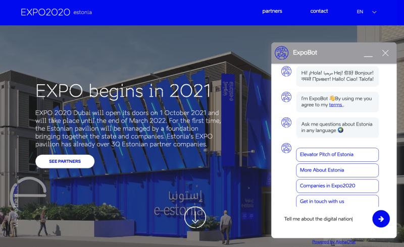 Virtual Assistant To Introduce Estonia In All Languages