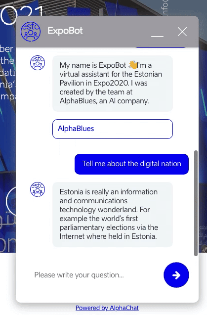 Multilingual chatbot is asked a question in English