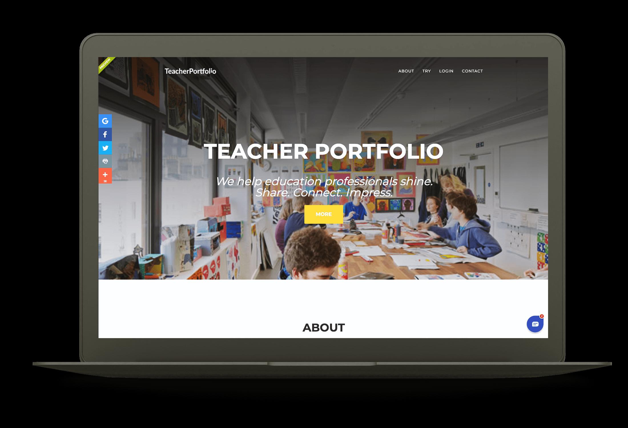 Teacher Portfolio Website