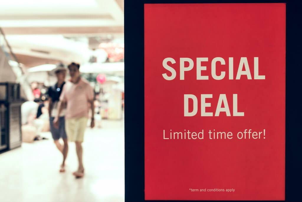 Customer appreciation SALE sign