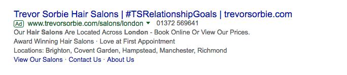 Google ad Copy Example