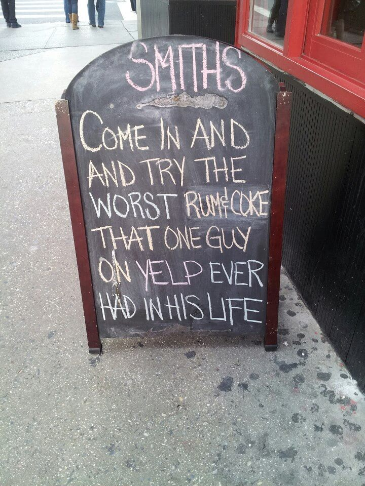 Example of an A-Board to Get More customers in cafe