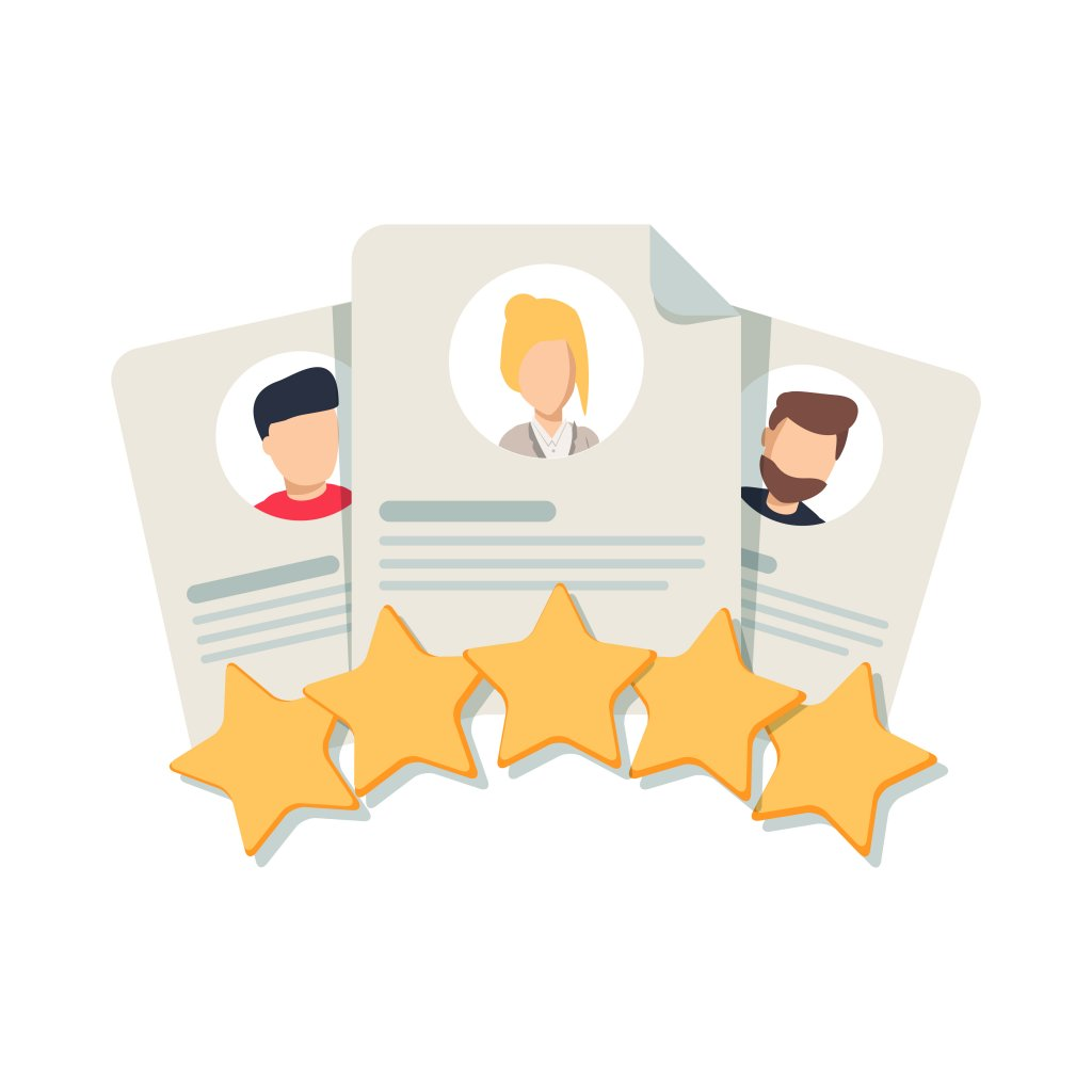 Illustration of reviews for restaurant ratings to get more customers