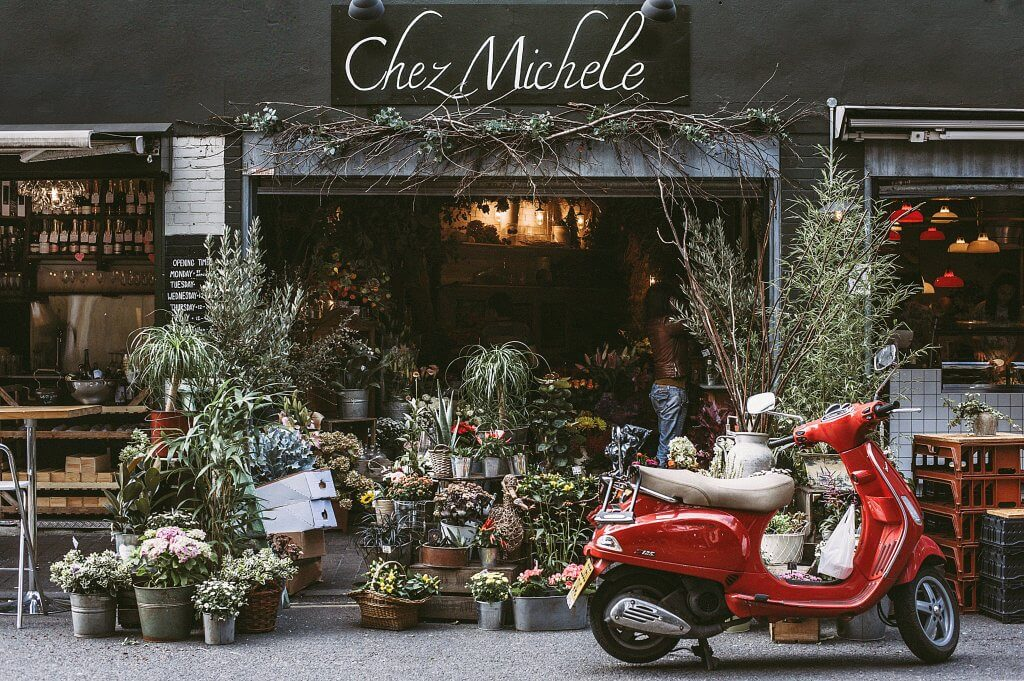 Supporting local businesses florist shopfront