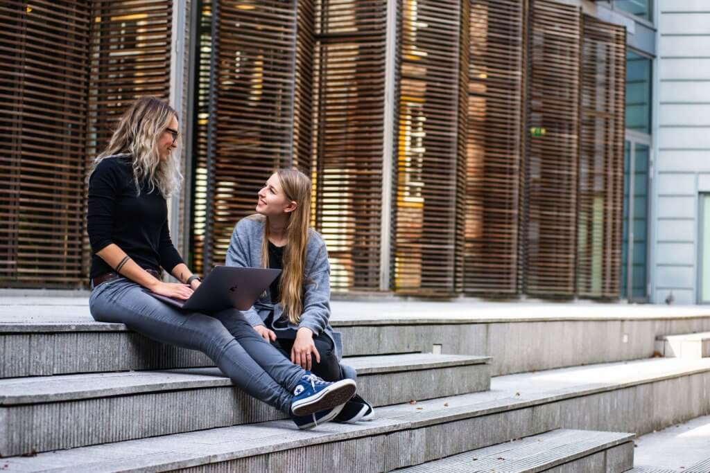 Tips for students sitting on steps outside