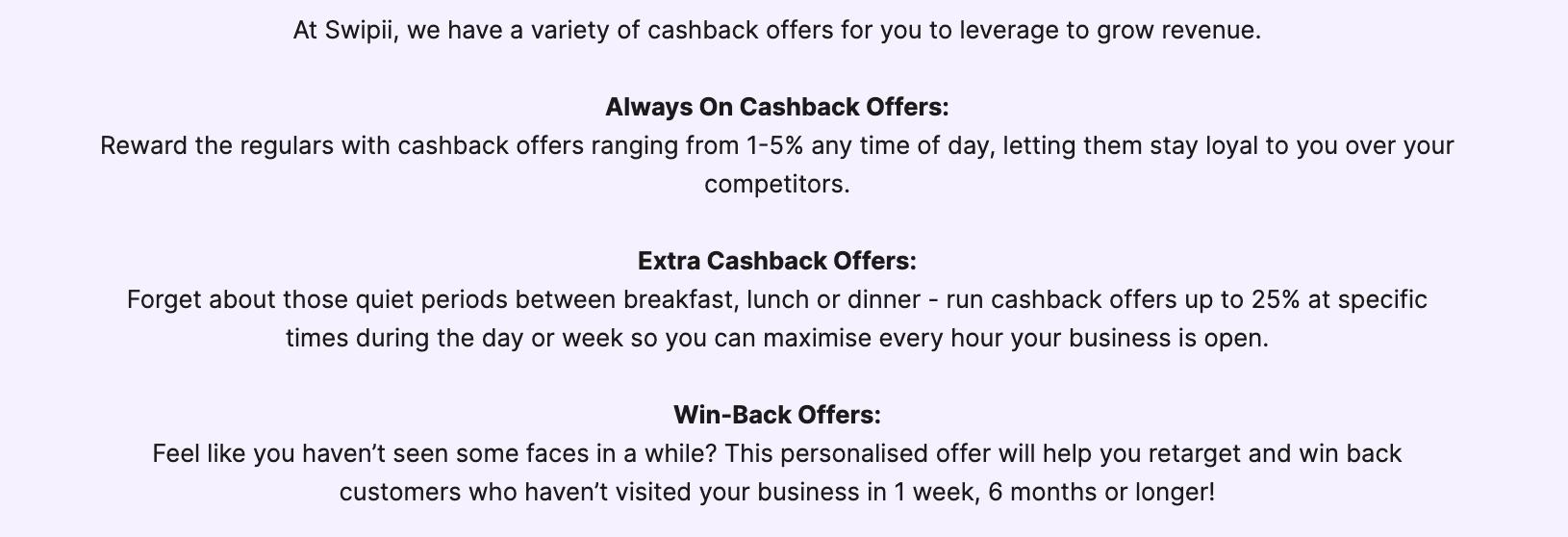 swipii-cashback-offer-types