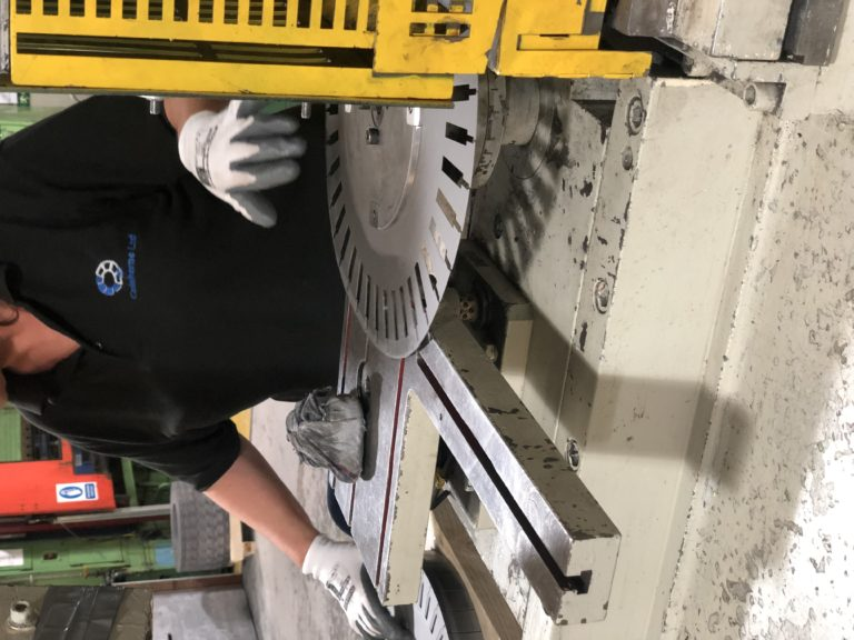 Laminations, part being slotted