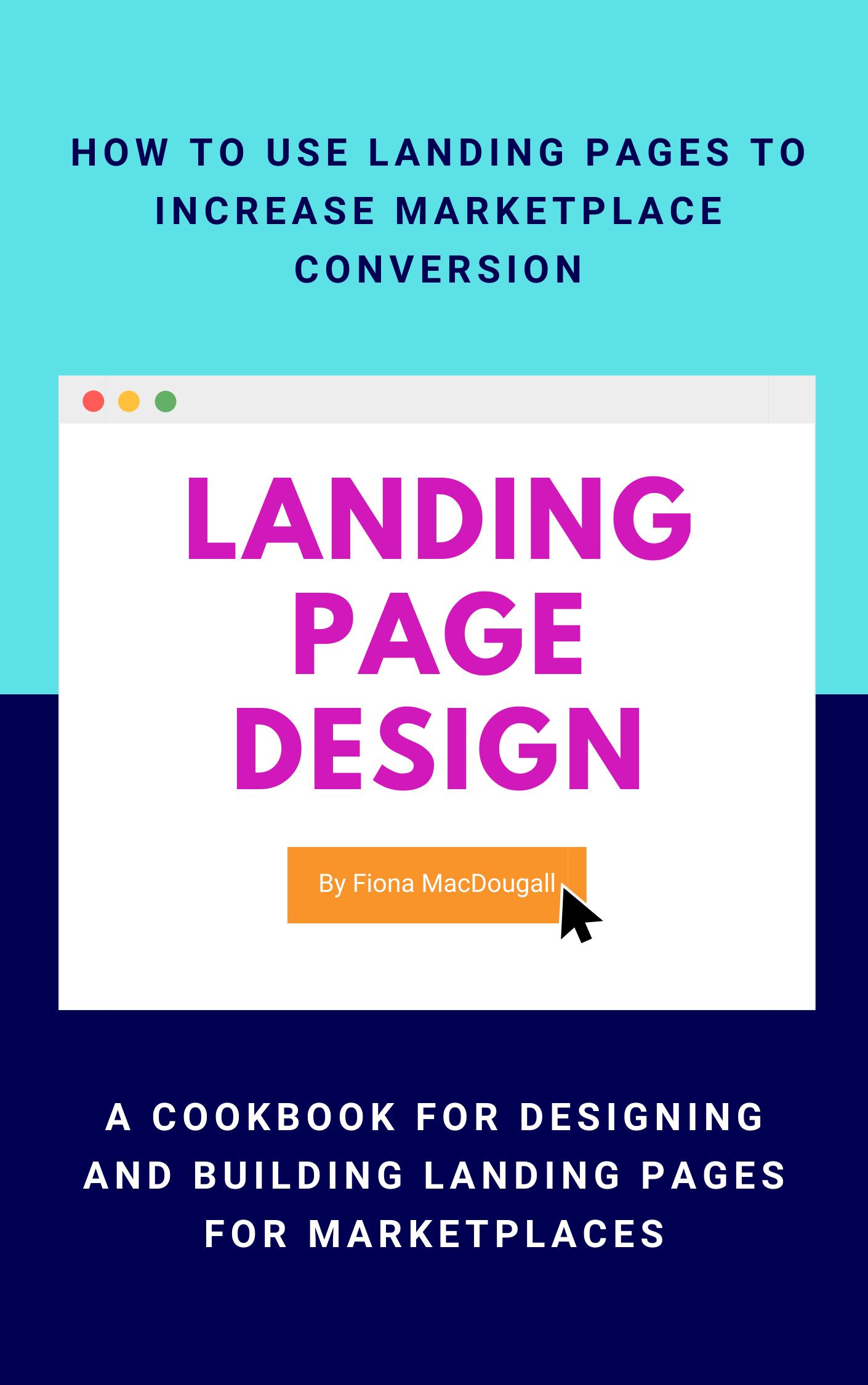 Book cover - Landing Pages For Marketplaces Workbook