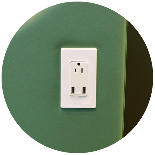 USB outlets allow patients to charge mobile devices during long procedures