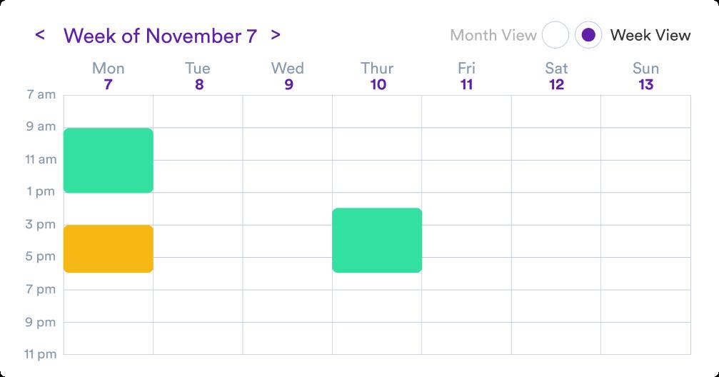 Product showcase of calendar