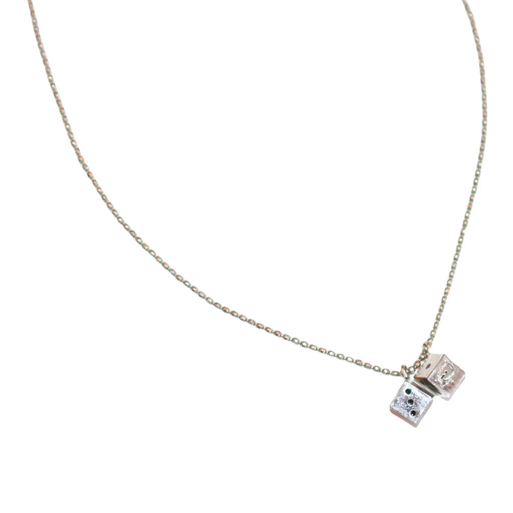 Christian Dior Mini Dice Necklace