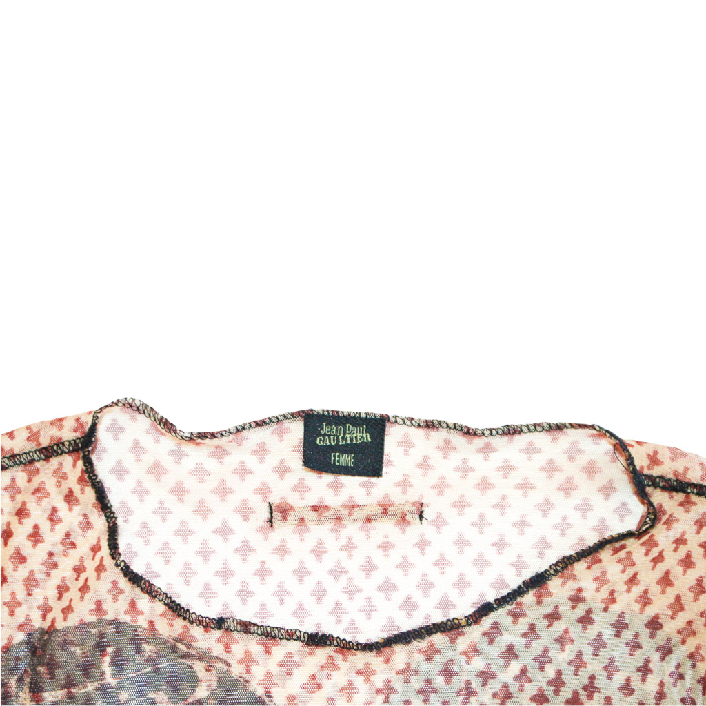 Jean Paul Gaultier Classique Arabic Mesh Top