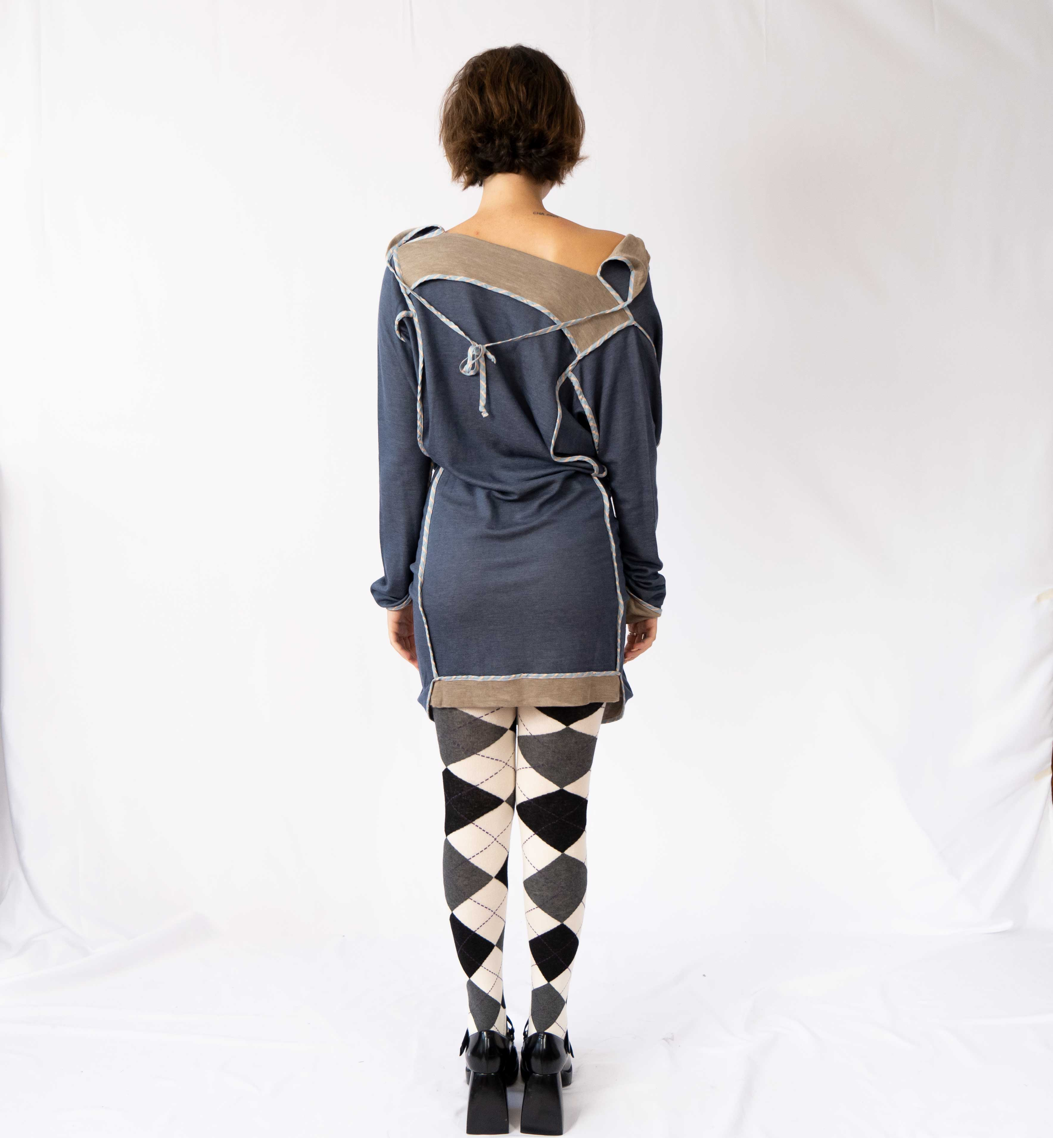 The most incredible weird Vivienne Westwood jersey dress. You have endless freedom with this number, play around with the ties, wear it reverse... the ball is in your court.