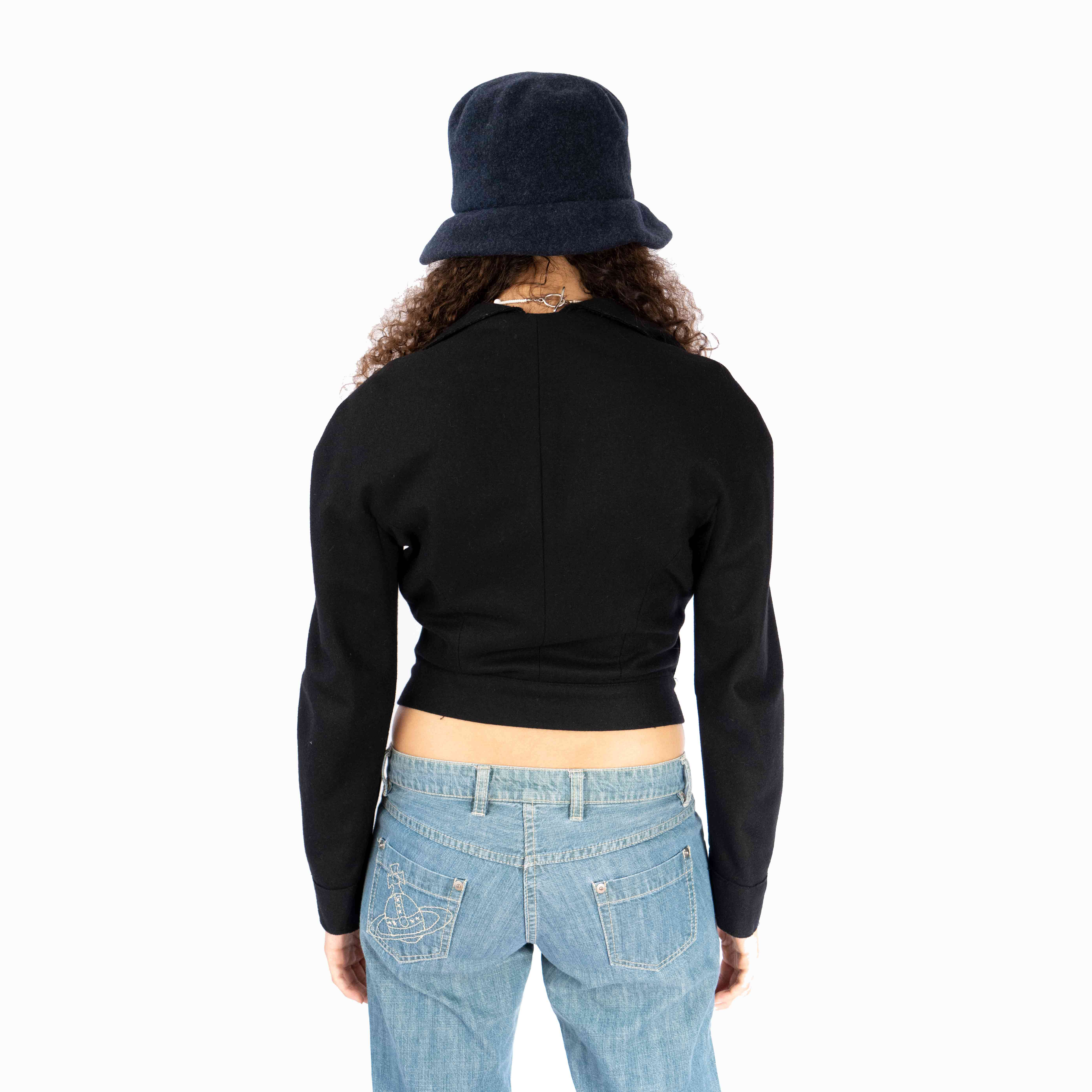Finally, a blazer that will not overwhelm you. This baby can be worn with a little tank underneath or nothing at all. I highly recommend wearing it with a cute bucket hat like ours.