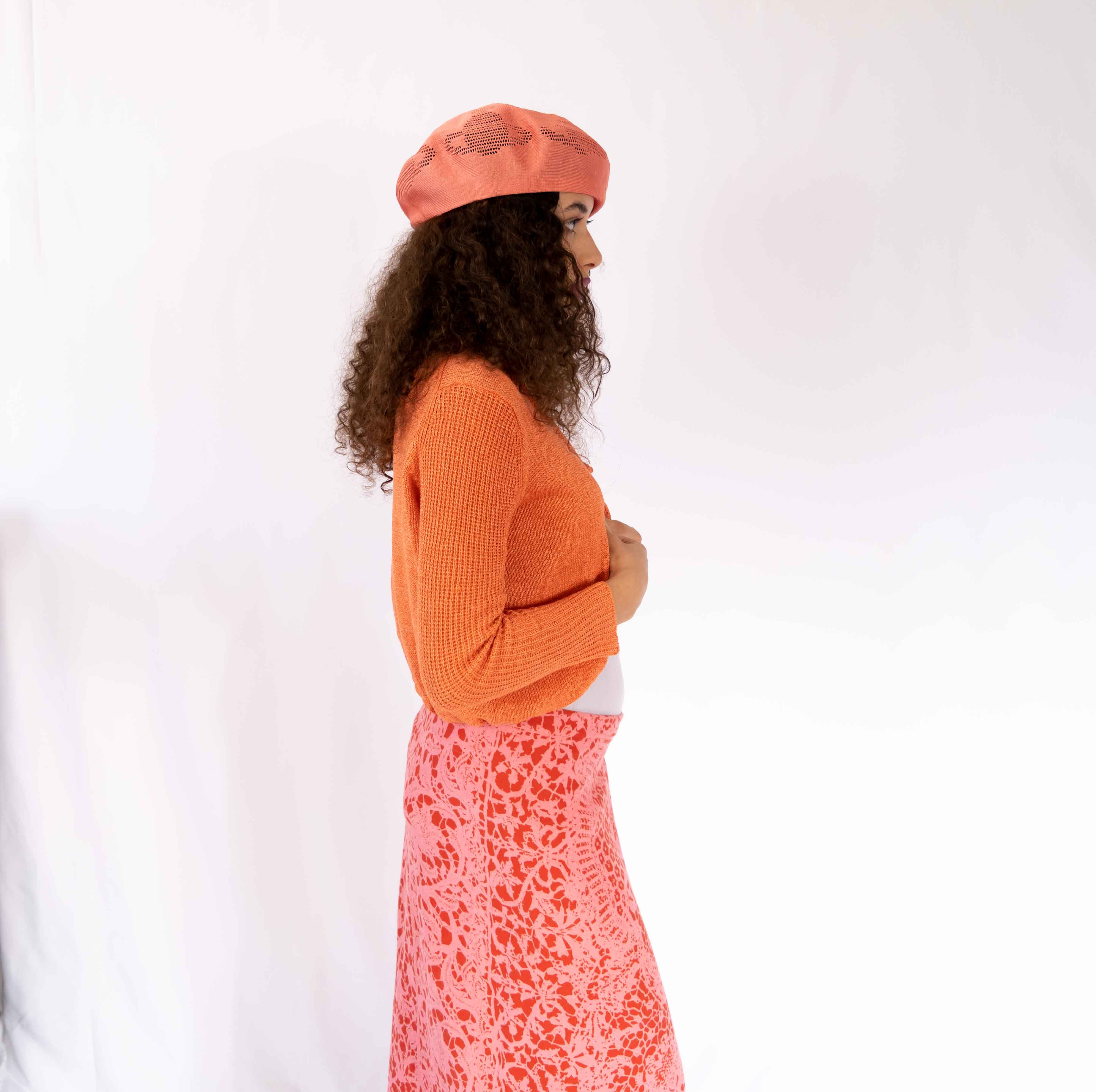 Berets are not only for the French okay. You can wear this beautiful hat for any occasion: To the beach, to a casual date with yourself at a cafe, or to wow your classmates back at school. It's hard to find a beret this special.