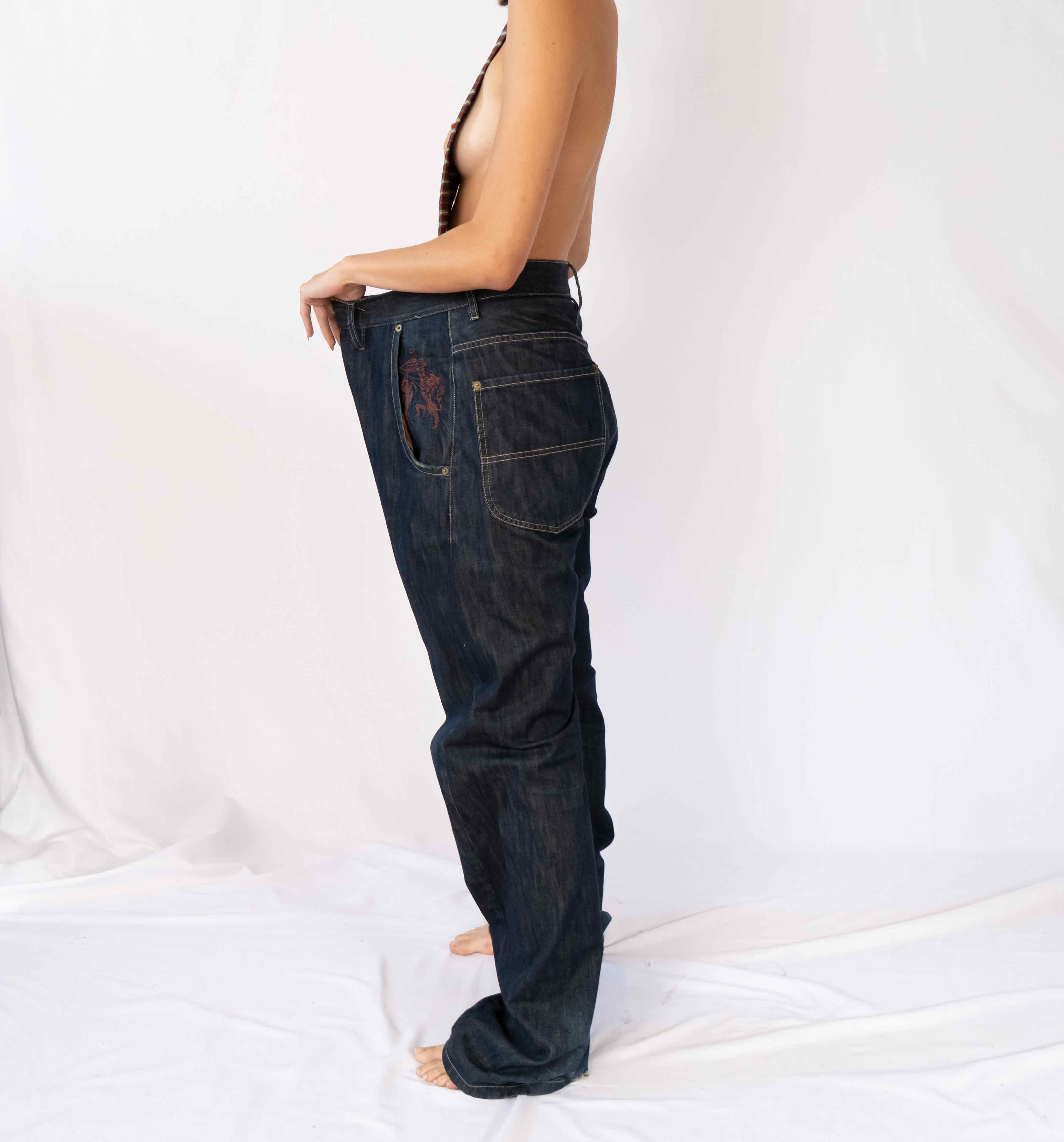 Everyone needs that one perfect pair of Japanese denim. This raw denim pant is gently worn in with the most love. Wear them super baggy or just to fit.