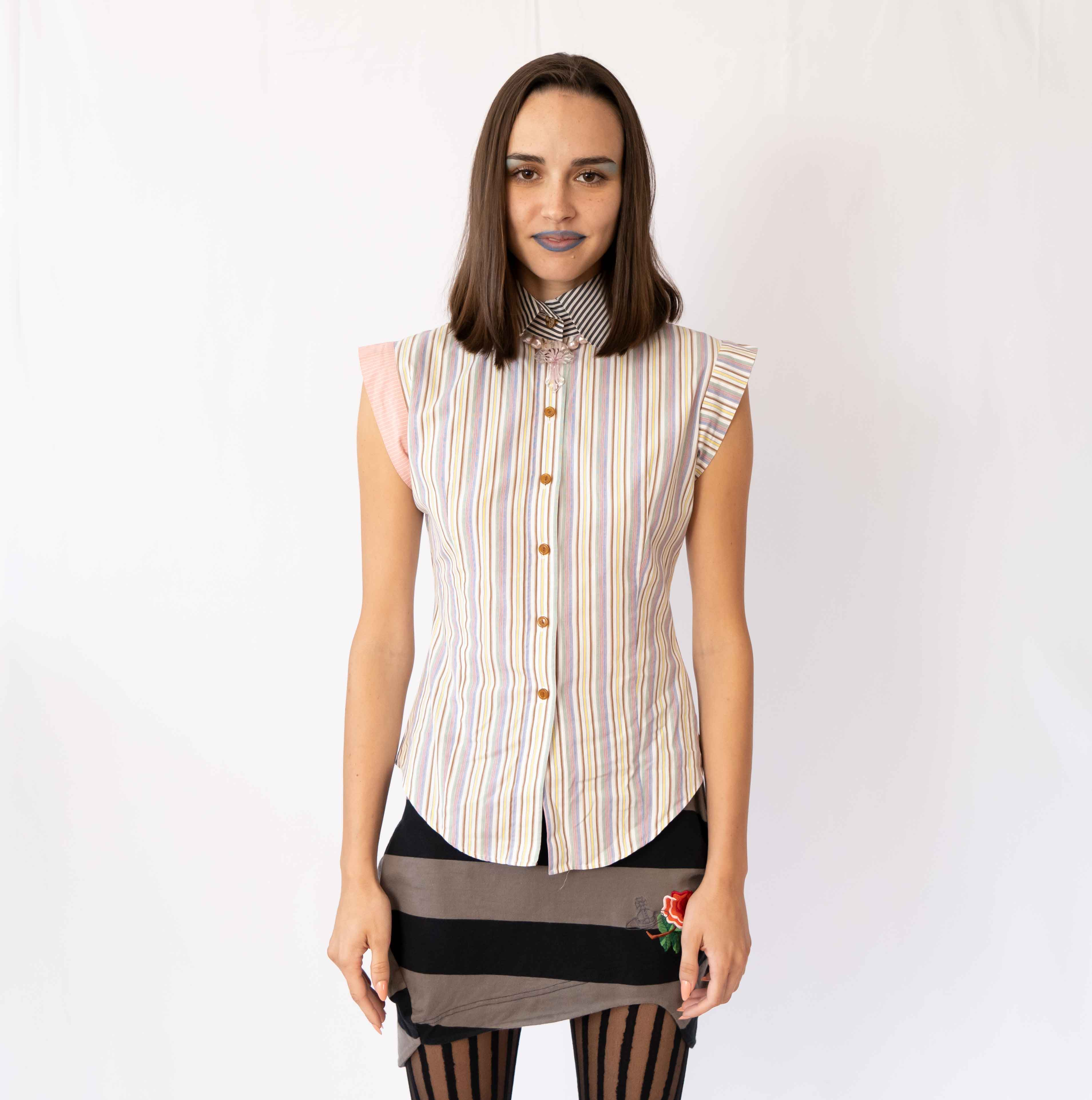 This not-so-simple Lolita blouse of perfect for work or a date. Pair it with a mini skirt or jeans for a casual look.