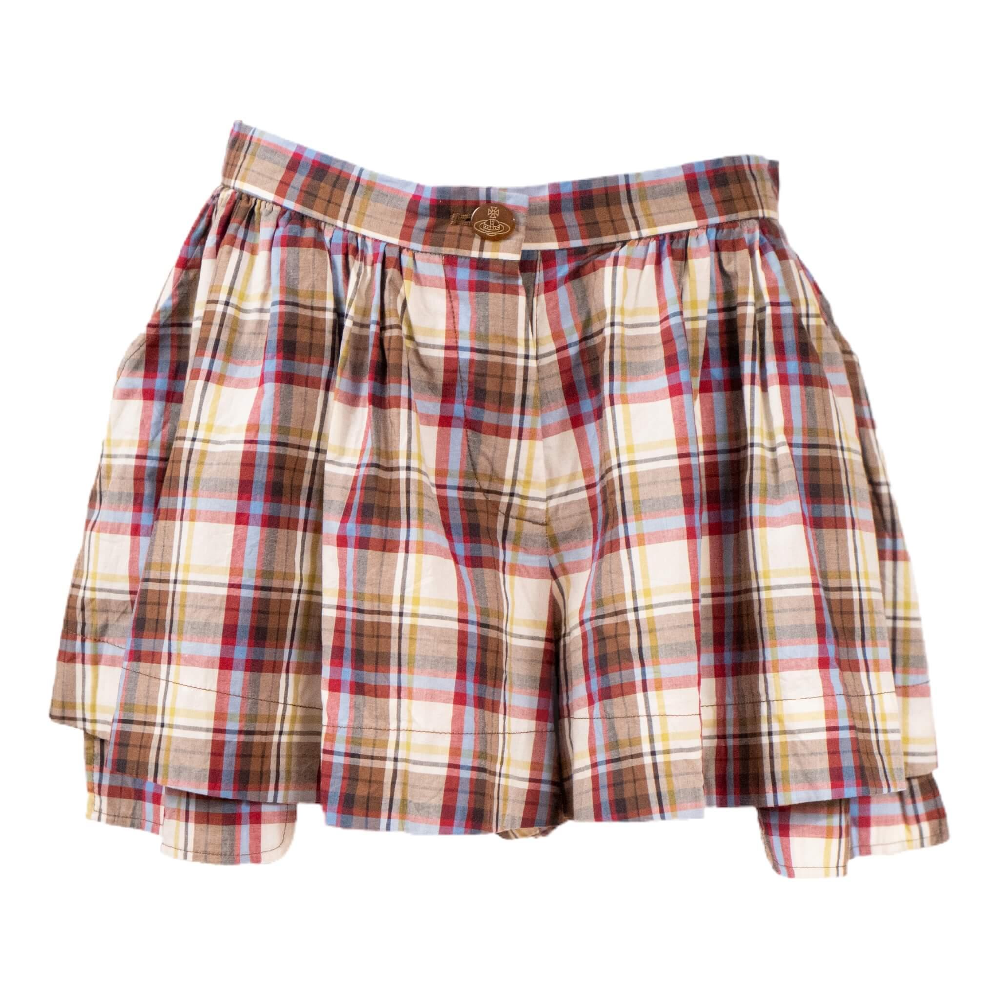 Vivienne Westwood Tartan Twist Shorts