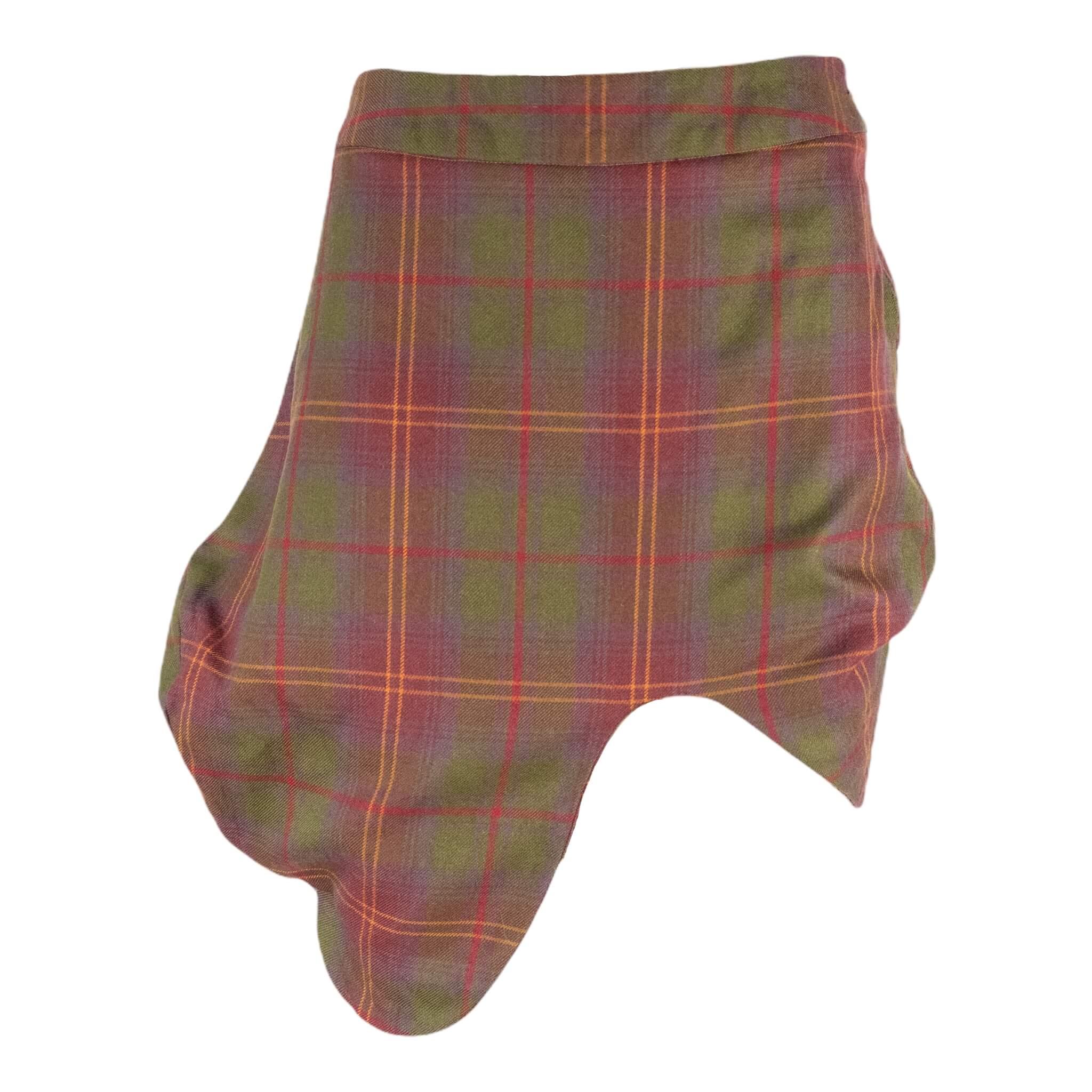 Vivienne Westwood Atypical Plaid Skirt