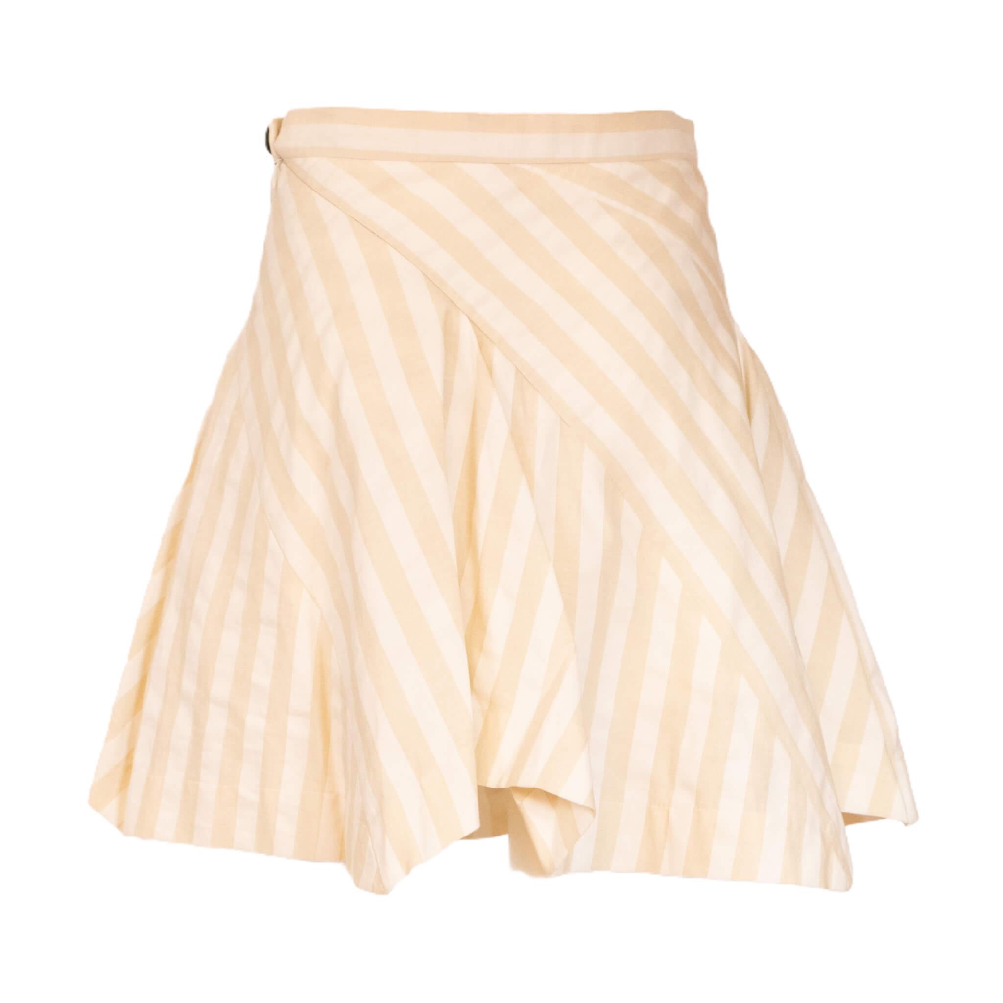 Vivienne Westwood Zig Zag Cream Skirt
