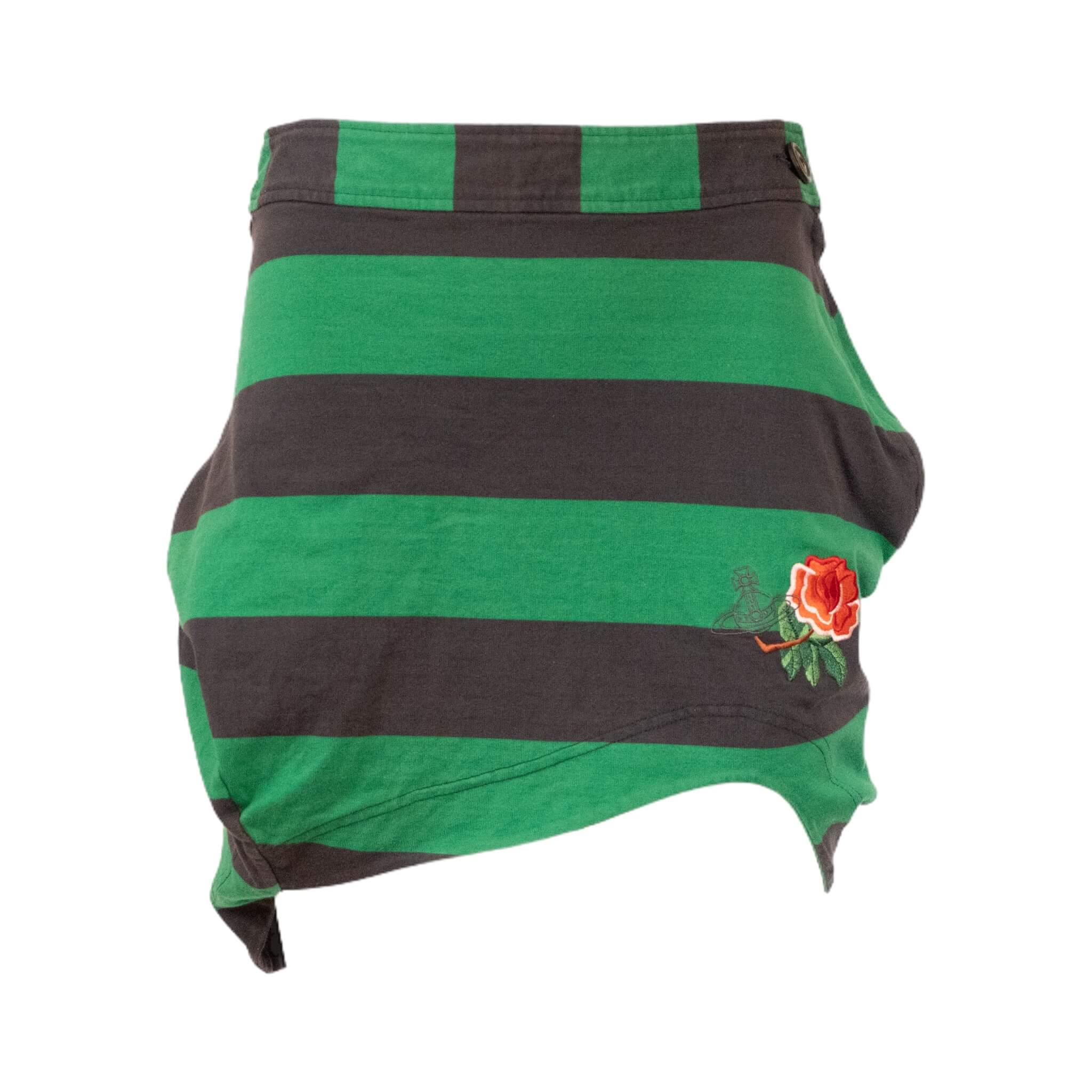 Vivienne Westwood Green Rose Skirt