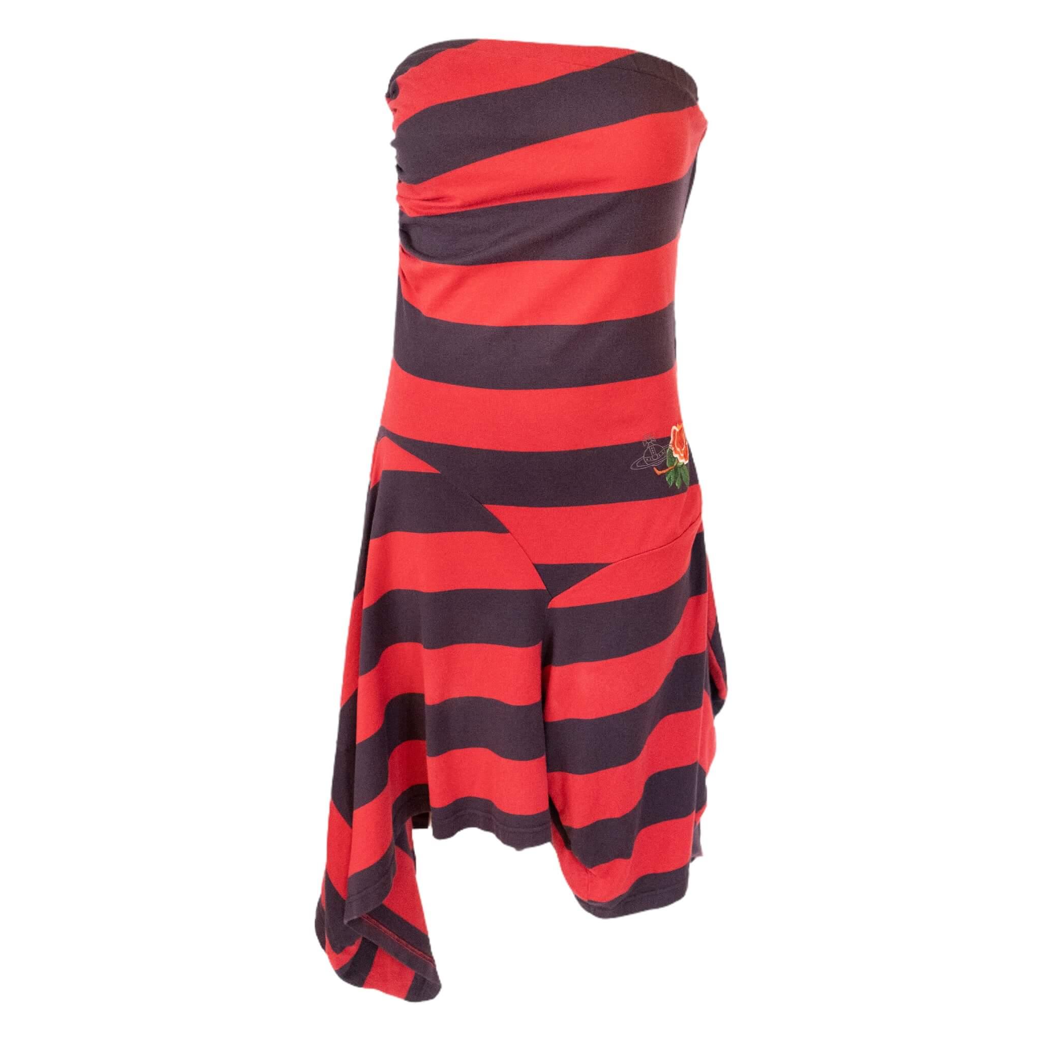 Vivenne Westwood Asymmetrical Stripe Dress