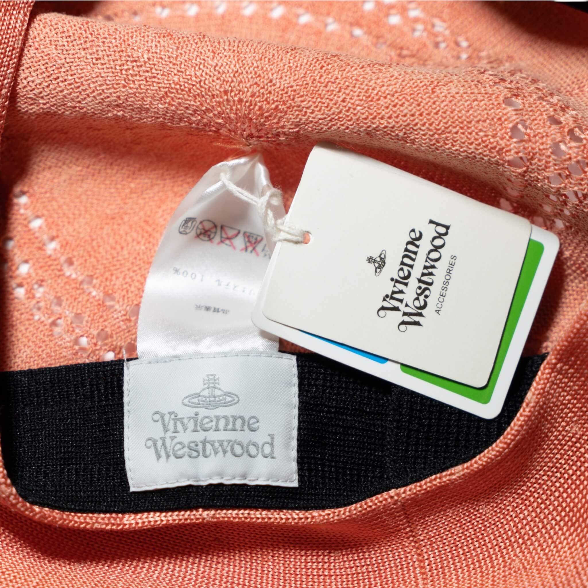 Vivienne Westwood Pink Stamped Beret