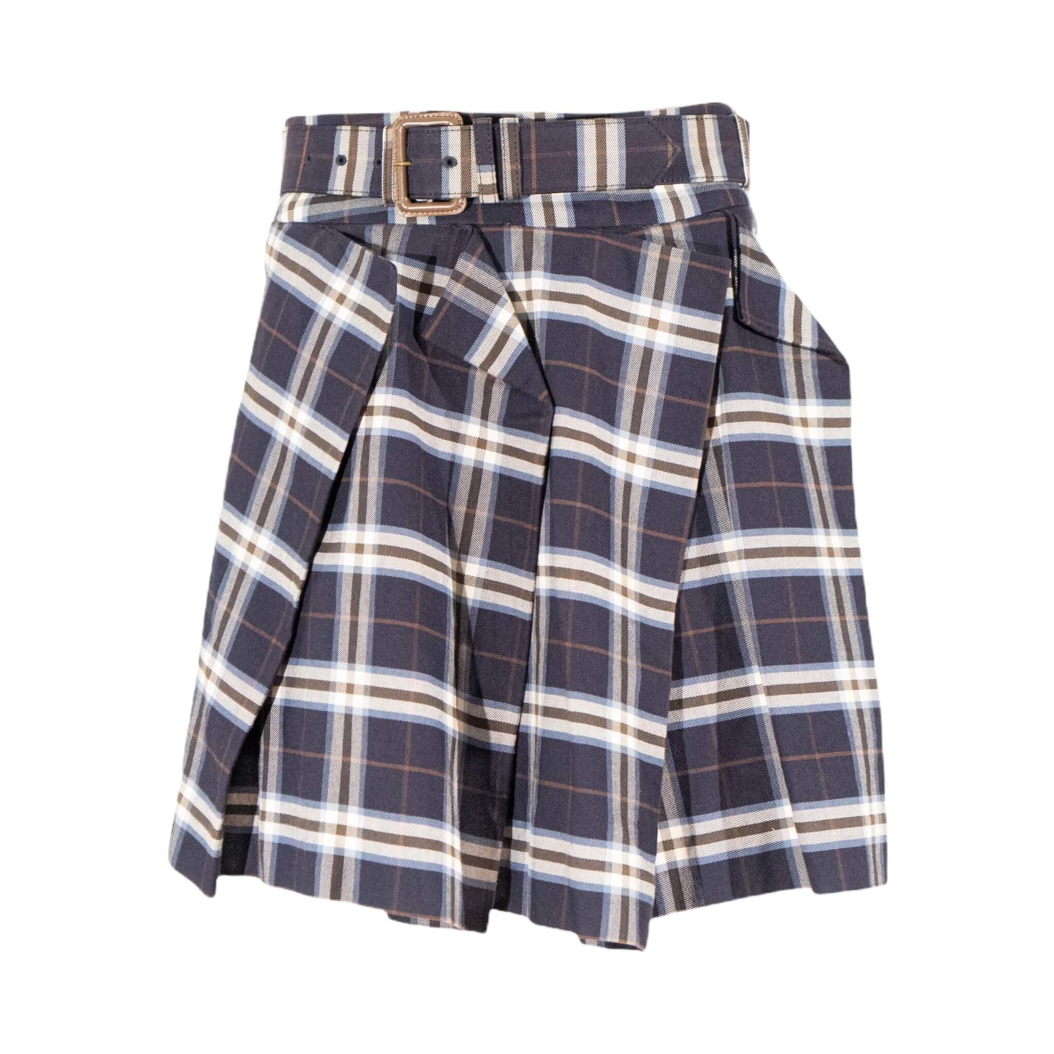 Vivienne Westwood Plaid Belted Skirt