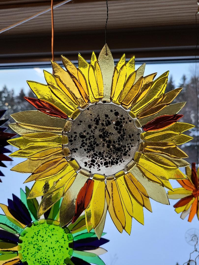 Sunflower in ambers and yellows