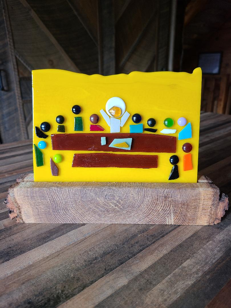 Last Supper on yellow