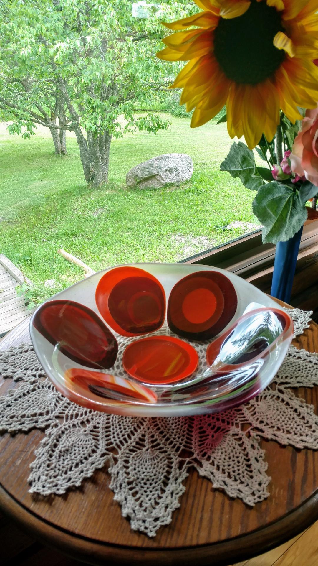 Orange Circle Bowl