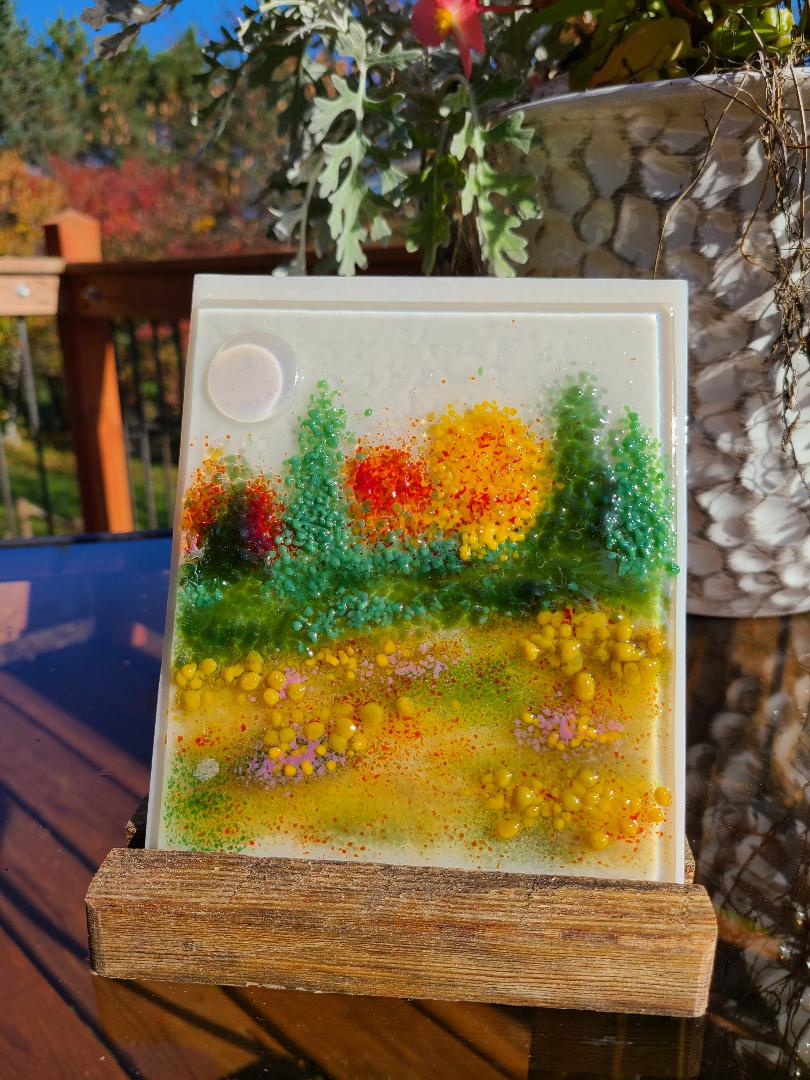 Watercolor in glass