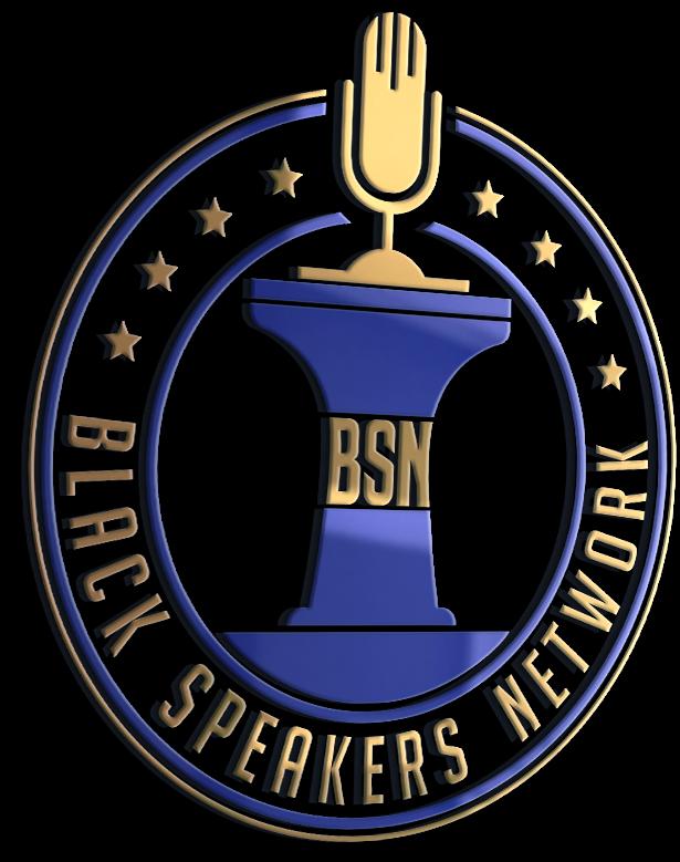 black speaker network logo
