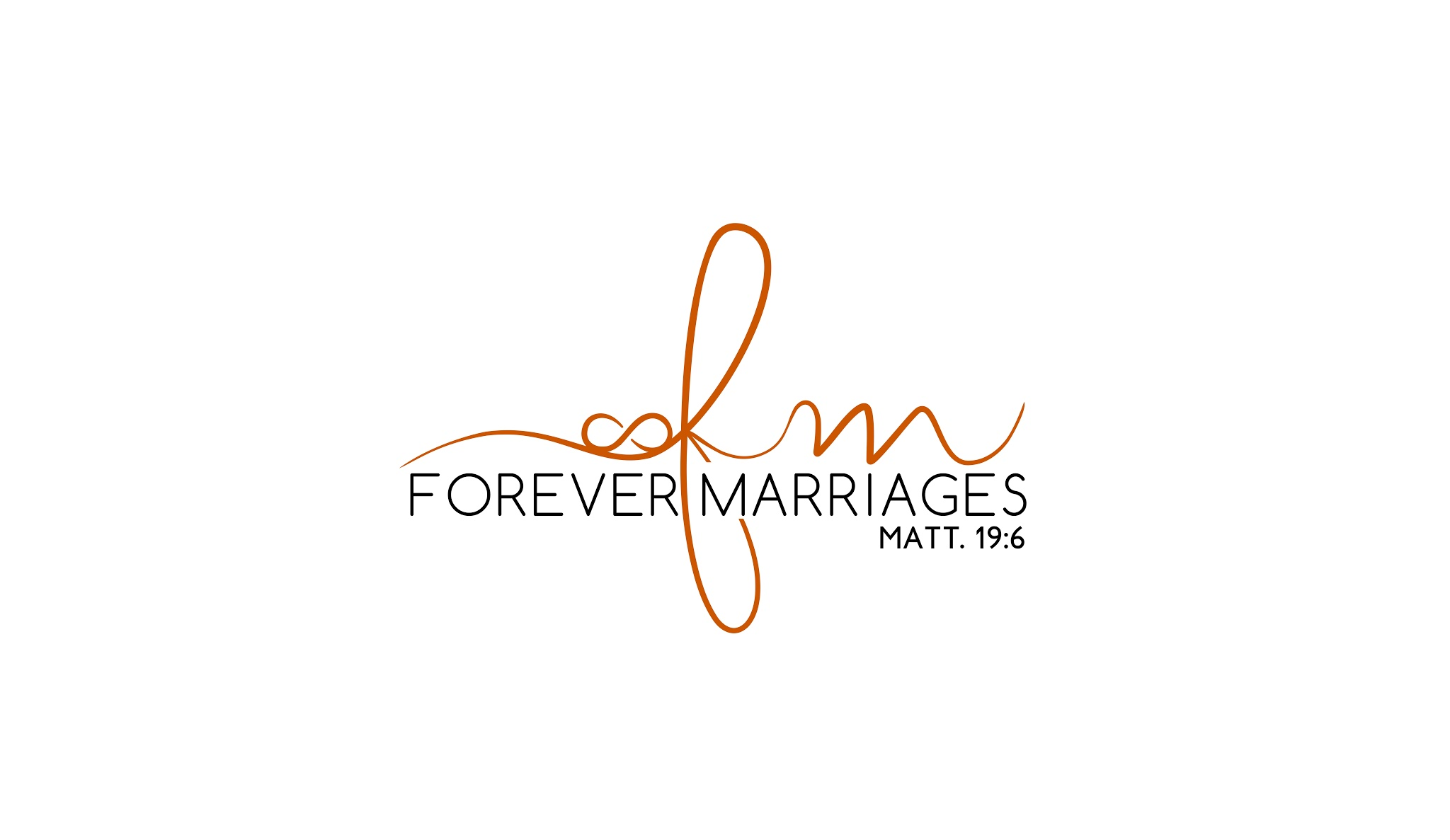 forever marriages logo on a white background
