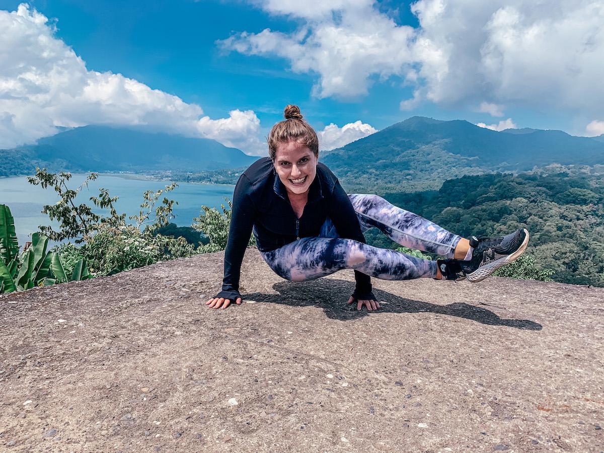 yoga near twin lakes in bali Indonesia