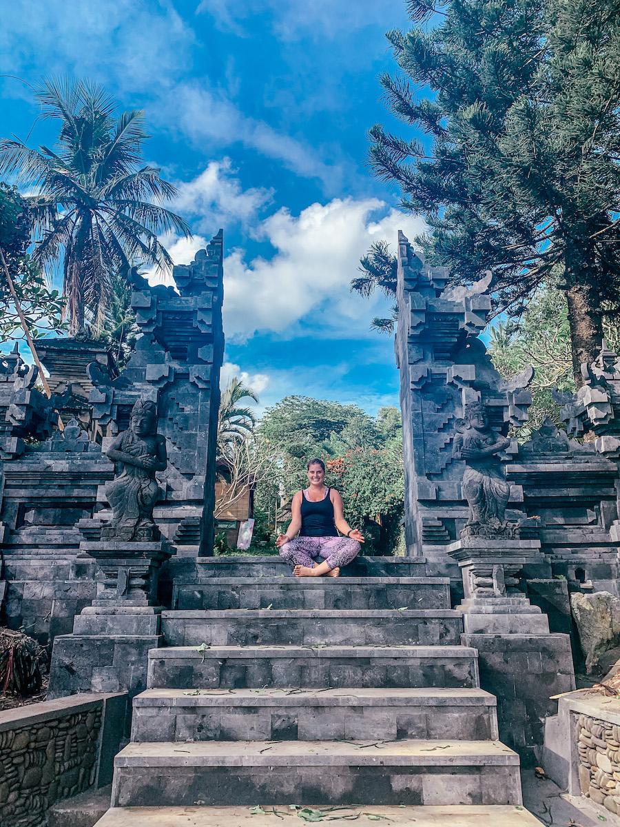 campuhan ridge walk sitting at temple holistic healing