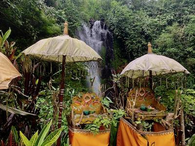 munduk bali indonesia holistic healing waterfall and Hindu temple