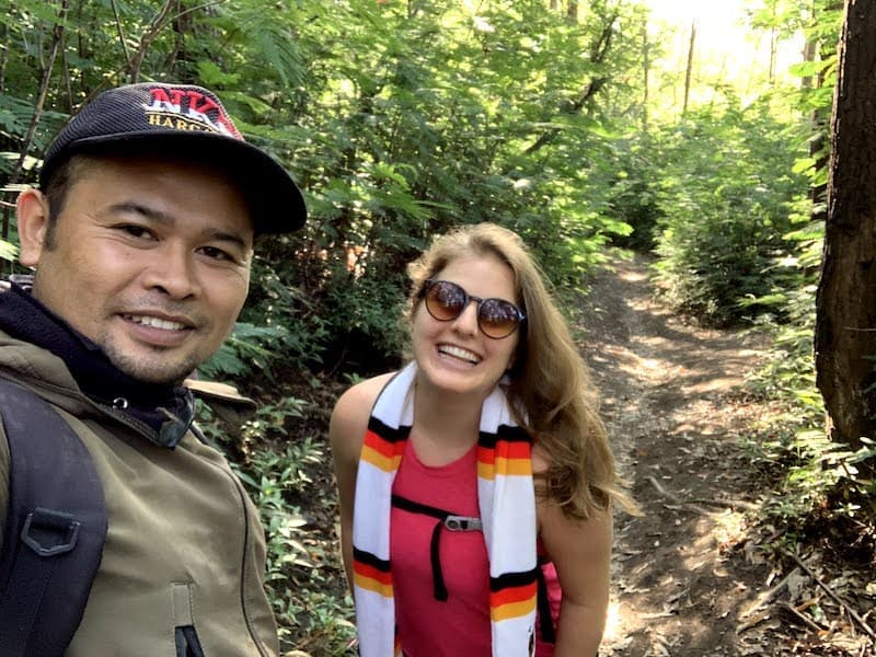 Hiking with a Guide Mount Batur
