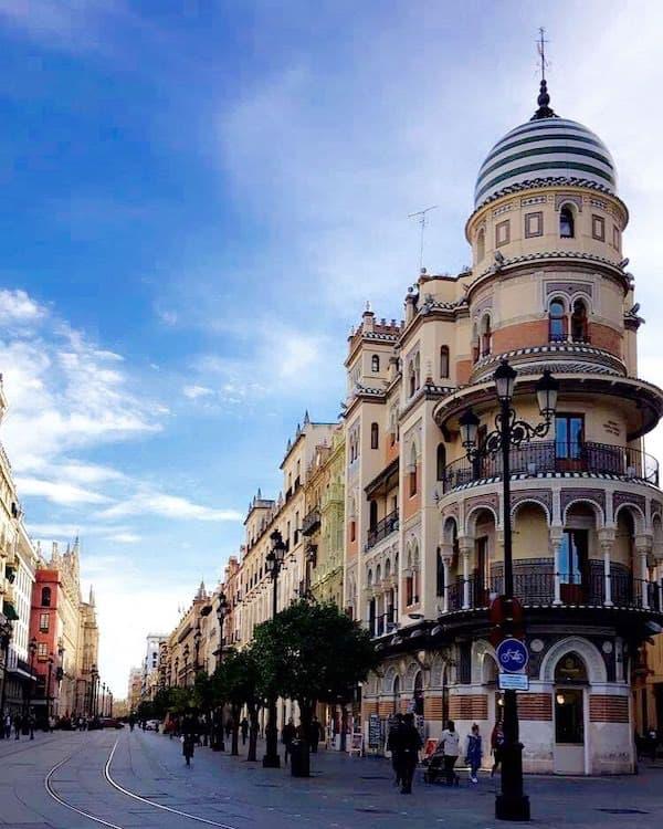 Avenida de la Constituccion in Seville Spain
