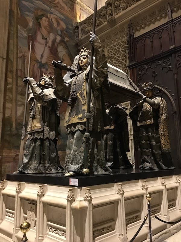 Tomb of Christopher Columbus in Seville Spain Catedral