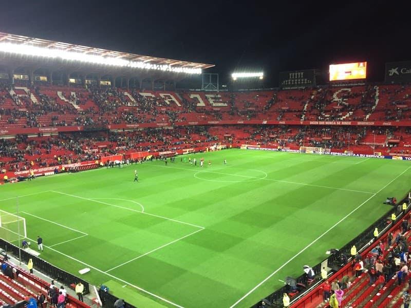Futbol arena in Seville Spain