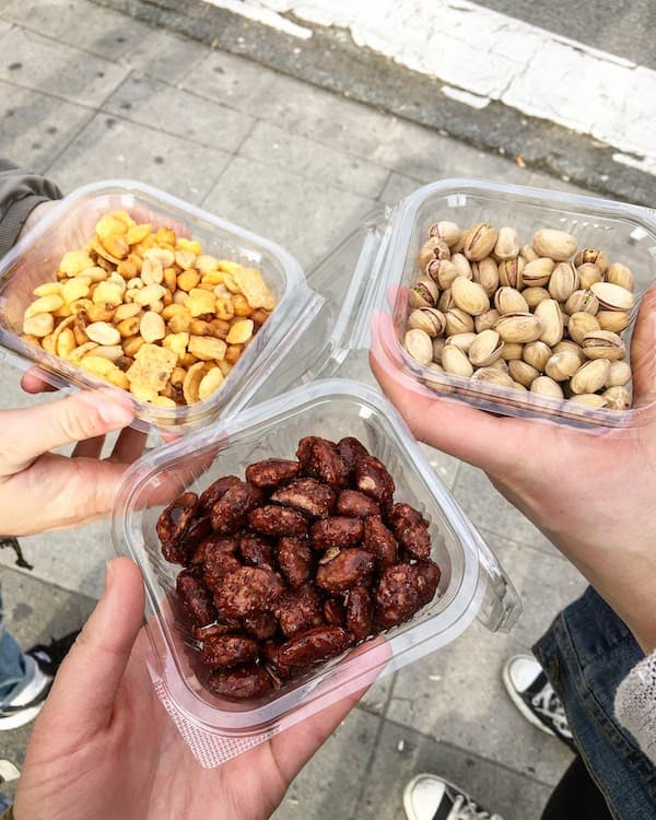 Nuts from Hugo in Seville Spain